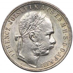 Węgry, Franciszek Józef I, 1 forint 1892 KB, Kremnica