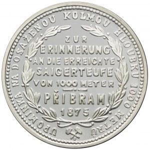 Austria, Franciszek Józef I, 1 floren 1875, Kopalnia Przybramska, nowe bicie