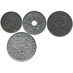 Zestaw Generalna Gubernia 1, 5, 10, 20 groszy (4szt.)
