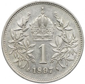 Austria, Franciszek Józef I, 1 korona 1897