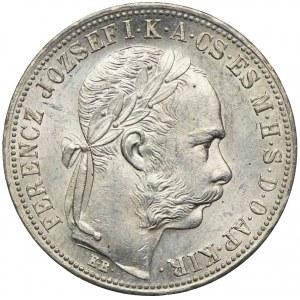 Węgry, Franciszek Józef I, 1 forint 1883 KB, Kremnica