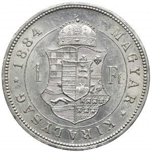 Węgry, Franciszek Józef I, 1 forint 1884 KB, Kremnica