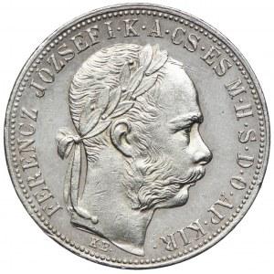 Węgry, Franciszek Józef I, 1 forint 1885 KB, Kremnica