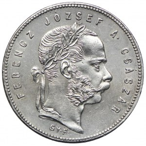 Węgry, Franciszek Józef I, 1 forint 1869 GYF