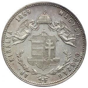 Węgry, Franciszek Józef I, 1 forint 1869 KB, Kremnica