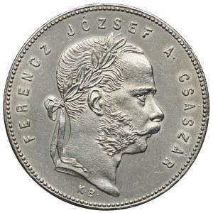 Węgry, Franciszek Józef I, 1 forint 1868 KB, Kremnica
