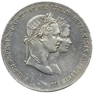 Austria, Franciszek Józef I, 1 gulden 1854, Wiedeń