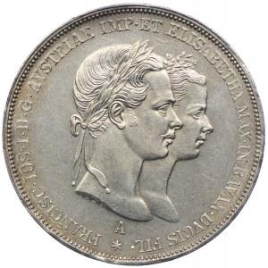 Austria, Franciszek Józef I, 2 guldeny 1854, Wiedeń