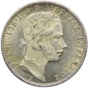 Austria, Franciszek Józef I, 1 floren 1860 A, Wiedeń