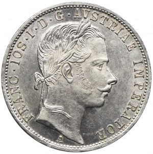 Austria, Franciszek Józef I, 1 floren 1863 A, Wiedeń