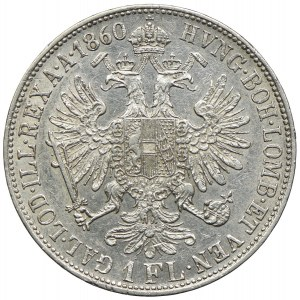 Austria, Franciszek Józef I, 1 floren 1860 B, Kremnica