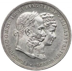 Austria, Franciszek Józef I, 2 guldeny 1879 Wiedeń - Srebrne gody