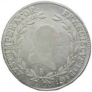 Austria, Franciszek I, 20 krajcarów 1815 B, Kremnica