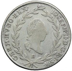 Austria, Józef II, 20 krajcarów 1788 B, Kremnica