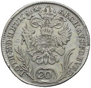 Austria, Józef II, 20 krajcarów 1786 B, Kremnica