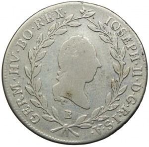 Austria, Józef II, 20 krajcarów 1787 B, Kremnica