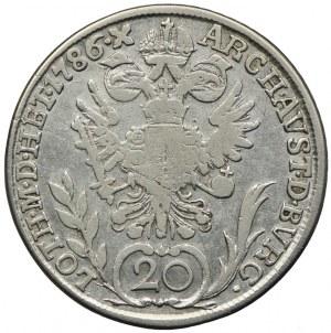 Austria, Józef II, 20 krajcarów 1786 G, Nagybanya