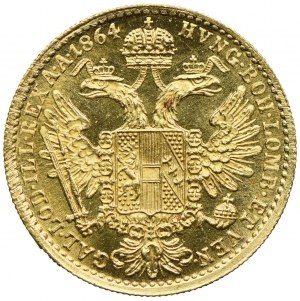 Austria, Franciszek Józef I, 1 dukat 1864, Wiedeń