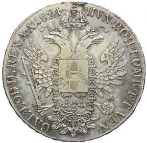 Austria, Franciszek II, talar 1824, Wiedeń