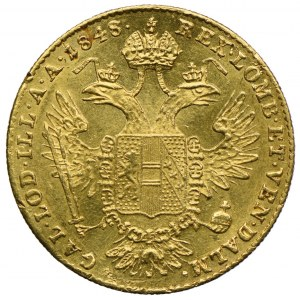 Austria, Ferdynand I, dukat 1848, Karlsburg