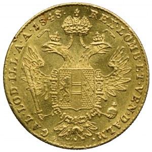 Austria, Ferdynand I, 1 dukat 1848, Karlsburg