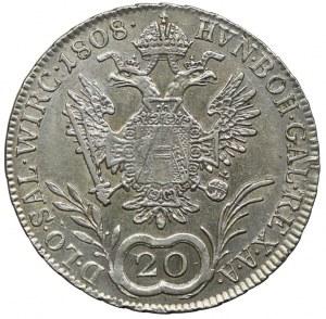 Austria, Franciszek II, 20 krajcarów 1808, Salzburg