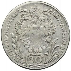 Austria, Józef II, 20 krajcarów 1785, Hall
