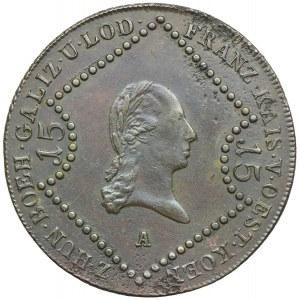 Austria, Franciszek II, 15 krajcarów 1807, Wiedeń