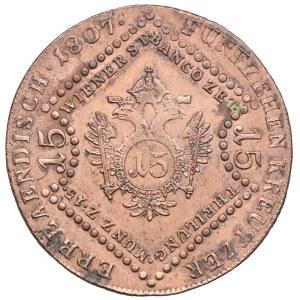 Austria, Franciszek II, 15 krajcarów 1807, Kremnica