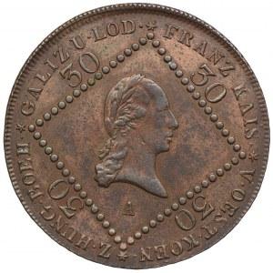 Austria, Franciszek II, 30 krajcarów 1807, Wiedeń