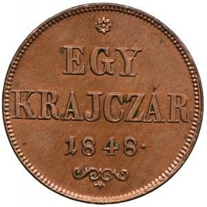 Węgry, 1 krajcar 1848, Nagybanya