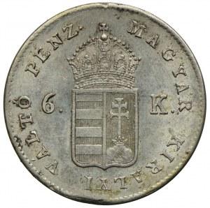 Węgry, 6 krajcarów 1849, Nagybanya