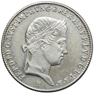 Węgry, Ferdynand I, 10 krajcarów 1843, Kremnica