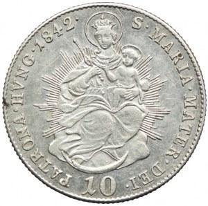 Węgry, Ferdynand I, 10 krajcarów 1842, Kremnica