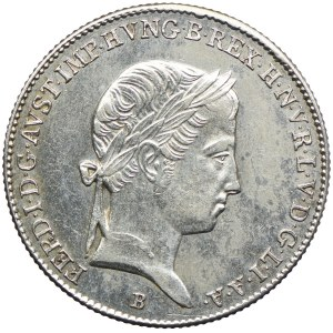 Węgry, Ferdynand I, 10 krajcarów 1844, Kremnica
