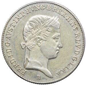 Węgry, Ferdynand I, 10 krajcarów 1845, Kremnica