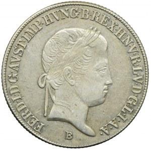 Węgry, Ferdynand I, 20 krajcarów 1843, Kremnica