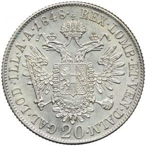 Austria, Ferdynand I, 20 krajcarów 1848, Wiedeń