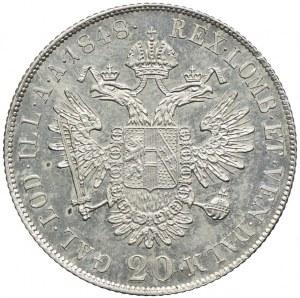 Austria, Ferdynand I, 20 krajcarów 1848, Praga