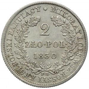Królestwo Kongresowe, Mikołaj I, 2 złote 1830 FH, Warszawa