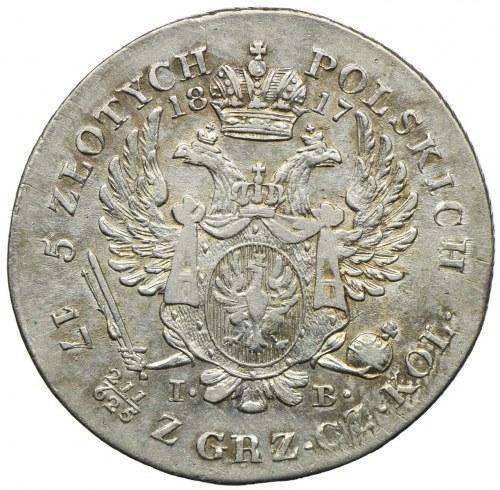 Królestwo Kongresowe, Aleksander I, 5 złotych 1817 IB, Warszawa