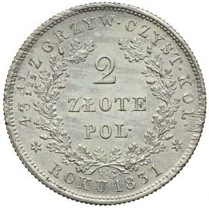Powstanie Listopadowe, 2 złote 1831 KG, Warszawa