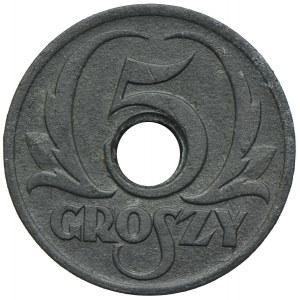 Generalna Gubernia, 5 groszy 1939