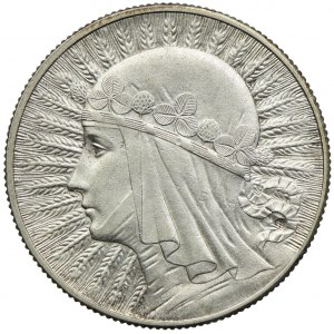 5 złotych 1932 bz, Londyn, Głowa Kobiety