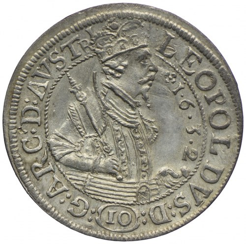 Austria, Leopold V, 10 krajcarów 1632, Hall