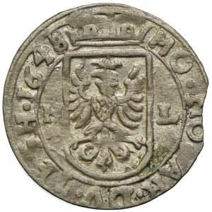 Śląsk Cieszyński, Elżbieta Lukrecja, 1 krajcar 1648 HL, Skoczów