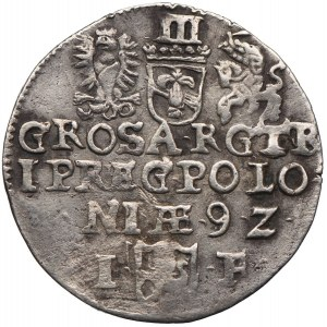 Zygmunt III Waza, trojak 1592, Olkusz
