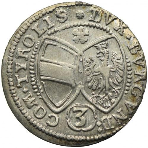Austria, Ferdynand Karol, 3 krajcary 1640, Hall