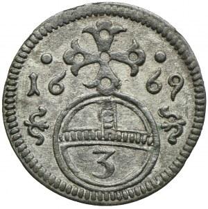 Śląsk pod panowaniem habsburskim, Leopold I, grosz 1669, Opole