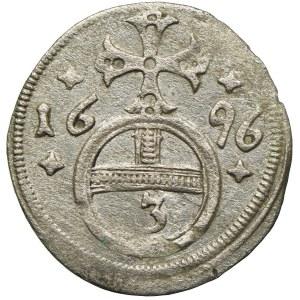 Śląsk pod panowaniem habsburskim, Leopold I, grosz 1696, Opole